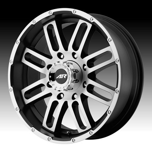 American Racing AR901 Machined Black Custom Rims Wheels 1