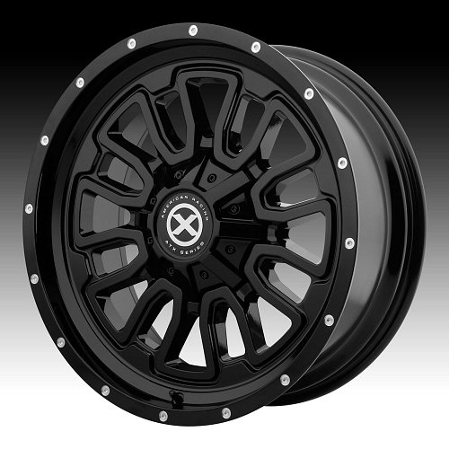 ATX Series AX203 Gloss Black Custom Wheels Rims 1