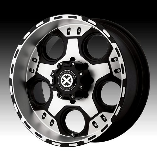 ATX Series AX184 184 Justice Matte Black Machined Custom Rims Wheels 1