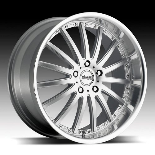 Advanti Racing A8 Afoso Silver w/ Machined Face and Lip Custom Rims Wheels 1
