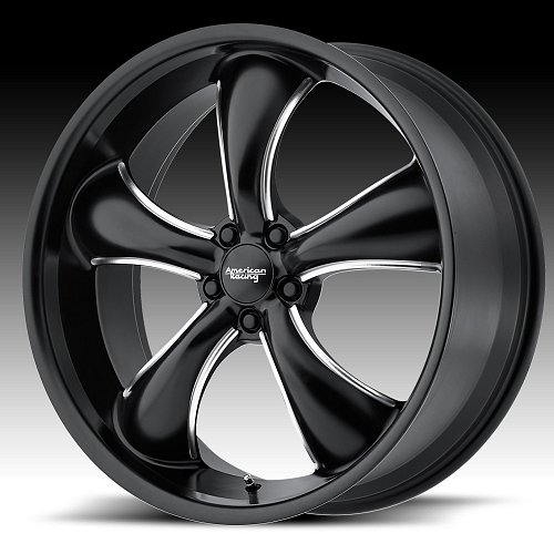 American Racing AR912 TT60 Satin Black Milled Custom Wheels Rims 1
