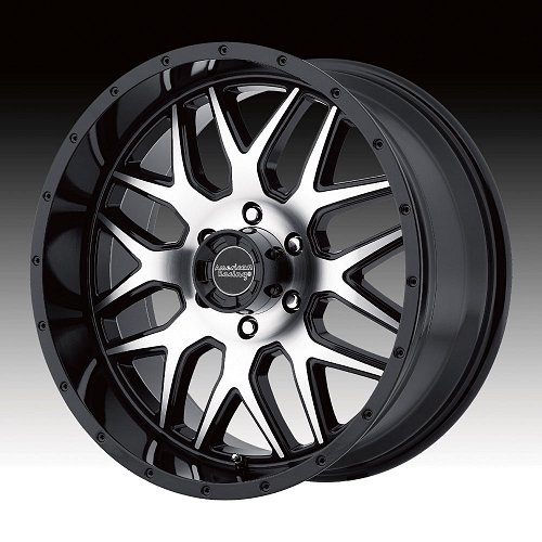 American Racing AR910 Machined Black Custom Wheels Rims 1
