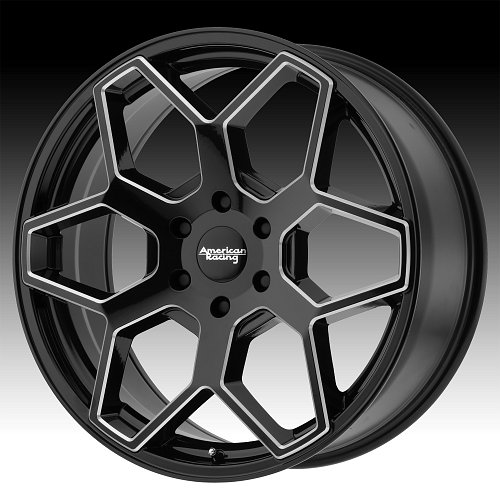 American Racing AR916 Black Milled Custom Wheels Rims 1