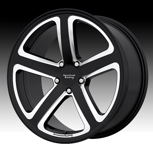 American Racing AR922 Satin Black Milled Custom Wheels Rims 1