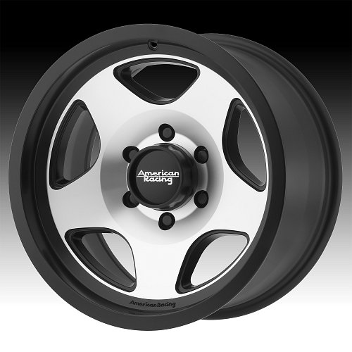 American Racing AR923 Satin Black Machined Custom Wheels Rims 1
