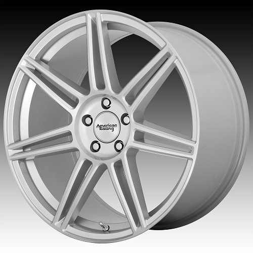 American Racing AR935 Redline Brushed Silver Custom Wheels Rims 1