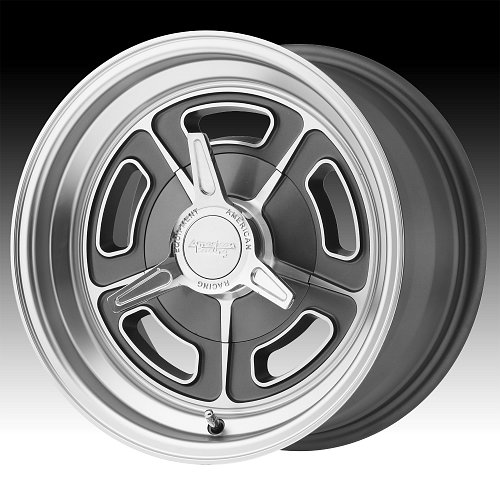 American Racing VN502 Mag Gray Machined  Custom Wheels Rims 1