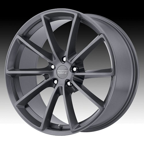 American Racing VN806 Fast Back Anthracite Custom Wheels Rims 1