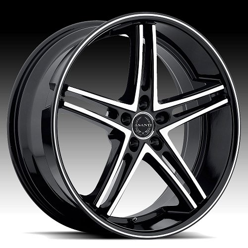 Asanti Black Label ABL-7 Machined Black Custom Wheels 1