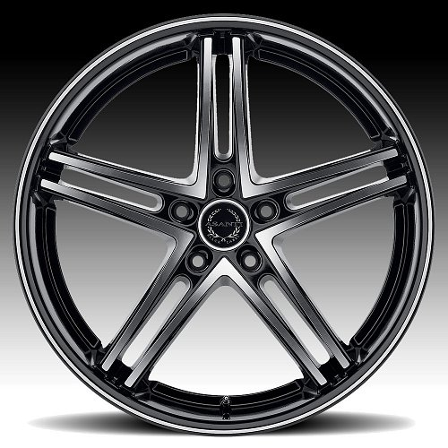 Asanti Black Label ABL-7 Machined Black Custom Wheels 2