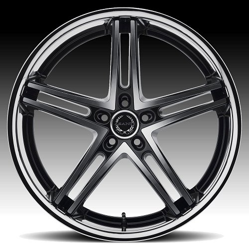 Asanti Black Label ABL-7 Machined Black Stainless Lip Custom Wheels 2