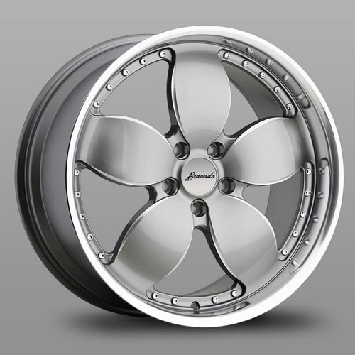 Bravado Freedom FR Silver Machined Ball Milled Custom Wheels Rims 1