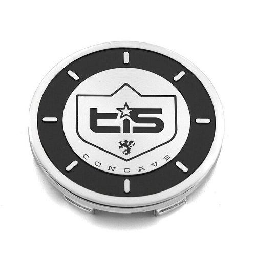 CAP-536MB-NEW / TIS 536MB-NEW Gloss Black/Brushed Aluminum Snap-In Center Cap 1