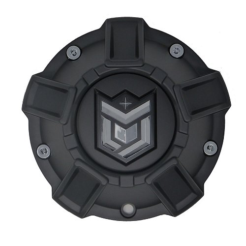 CAP-647BM-DBOMB / DropStars Satin Black Bolt-On Center Cap 1