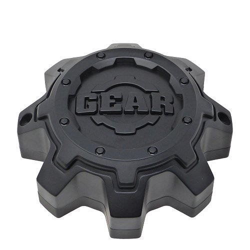 CAP-8LT-M16 / Gear Alloy Satin Black Tall Bolt-On Center Cap 1