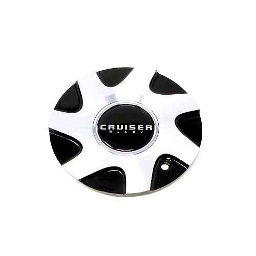 CAP-919MBF / Crusier Alloy 919MB Enigma Machined Black Bolt On Center Cap 1