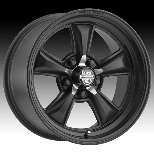 Center Line 635B CM6 Satin Black Custom Wheels Rims 1