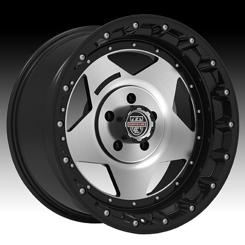 Center Line RT1 832MB Machined Black Custom Wheels Rims 1
