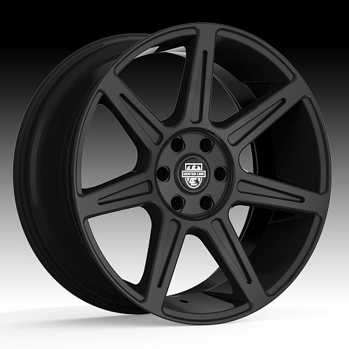 Center Line ST4 841B Rev 7 Black Custom Wheels Rims 1
