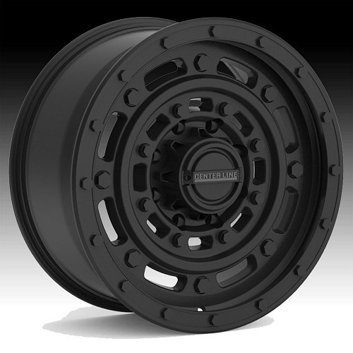 Center Line Patton 843B Satin Black Custom Wheels Rims 1