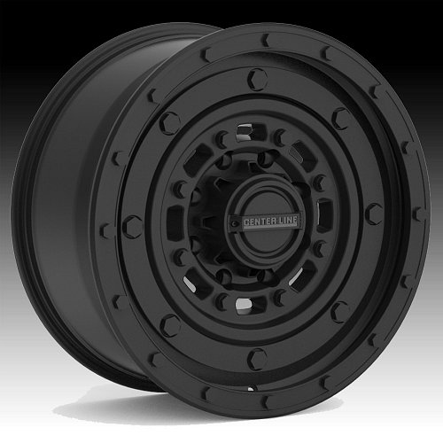 Center Line Patton 843B Satin Black Custom Wheels Rims 2