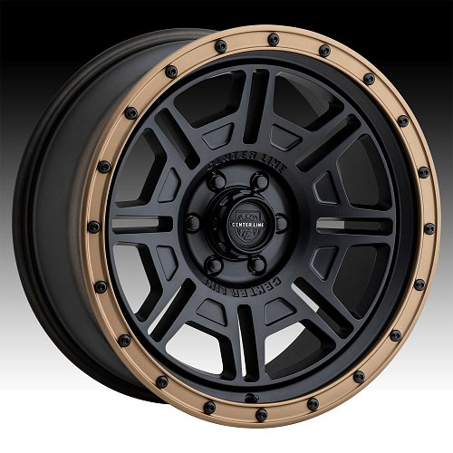 Center Line 850BZ Atlas Satin Black Custom Wheels Rims 1