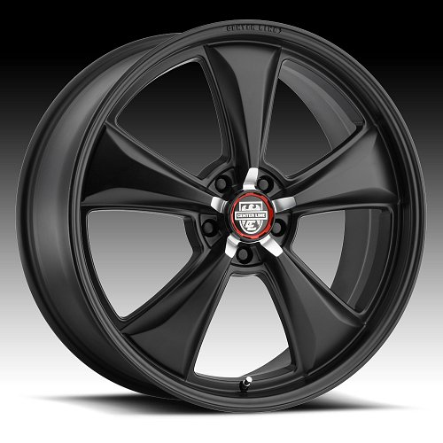 Center Line 635B MM6 Satin Black Custom Wheels Rims 1