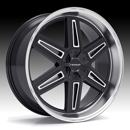 Cruiser Alloy 920MB Iconic Machined Black Custom Wheels Rims 1