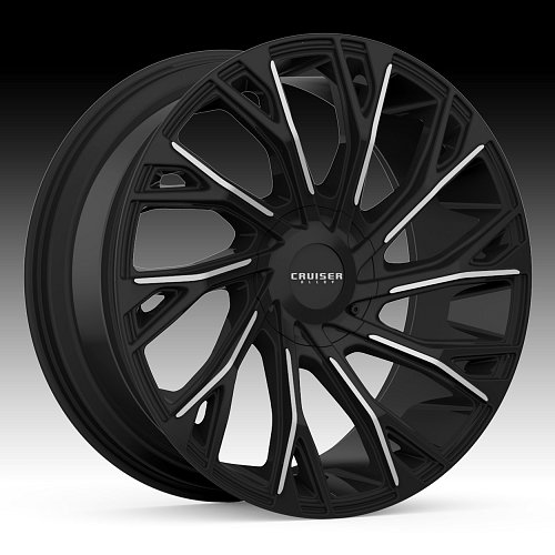 Cruiser Alloy 925MB Cutter Machined Black Custom Wheels Rims 1