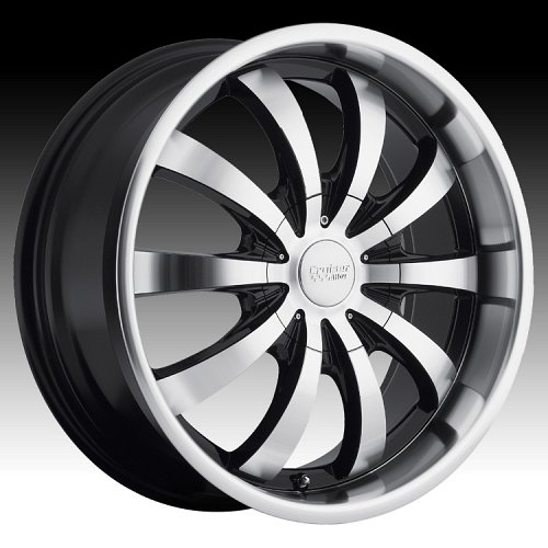 Cruiser Alloy 914MB Spartan Gloss Black Machined Custom Rims Wheels 1