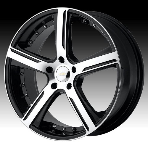 Diamo DI37 Karat Gloss Black w/ Machined Face Custom Rims Wheels 1