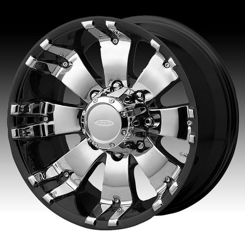 Diamo DI8 Karat Black w/ Machined Face Custom Rims Wheels 1