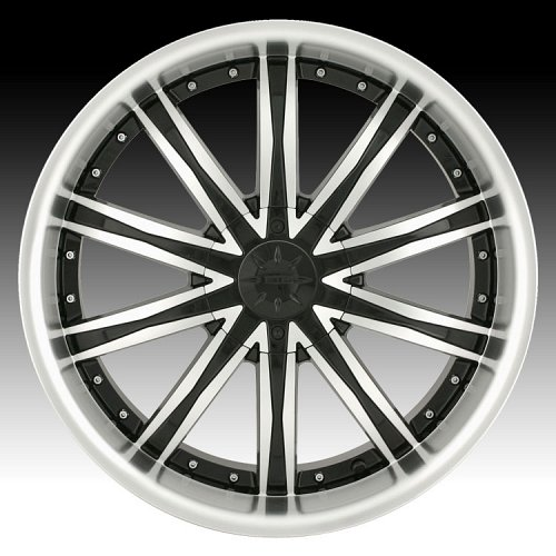 Dip D67 Ice Black w/ Machined Face Custom Wheels Rims 1