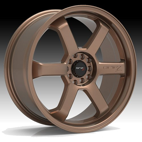 Drifz 303BZ Hole Shot Satin Bronze Custom Rims Wheels 1