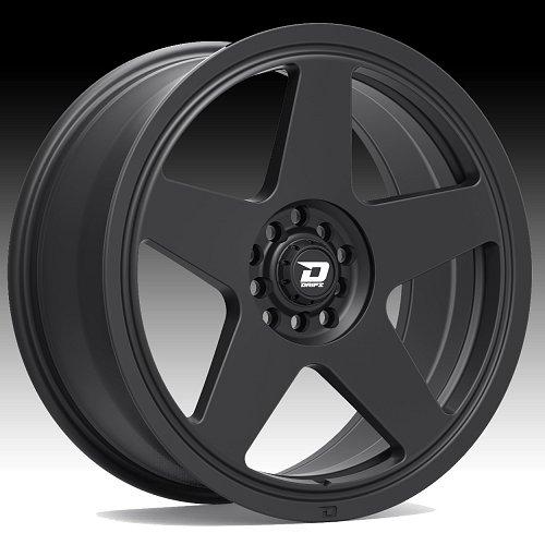 Drifz 312B Track Star Matte Black Custom Wheels Rims 1