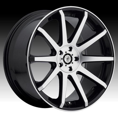 DropStars 643MB Machined Black Custom Wheels 1