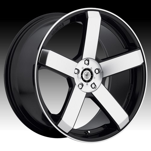 DropStars 644MB Machined Black Custom Wheels 1