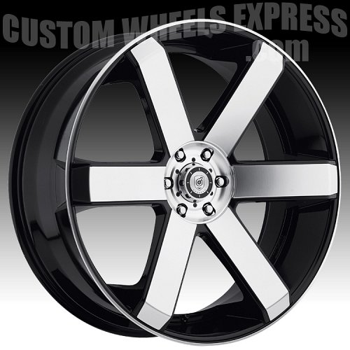 DropStars 644MB Machined Black Custom Wheels 2