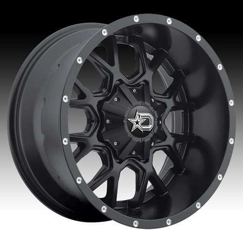 DropStars 645B DSM45 Satin Black Custom Wheels Rims 2