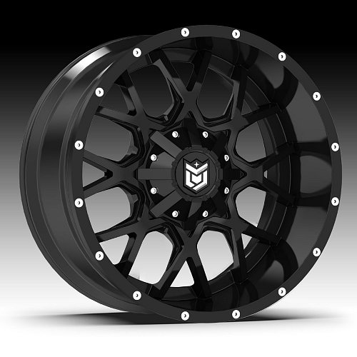 DropStars 645B DSM45 Satin Black Custom Wheels Rims 1