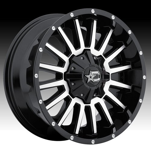 DropStars 646MB Machined Black Custom Wheels 1