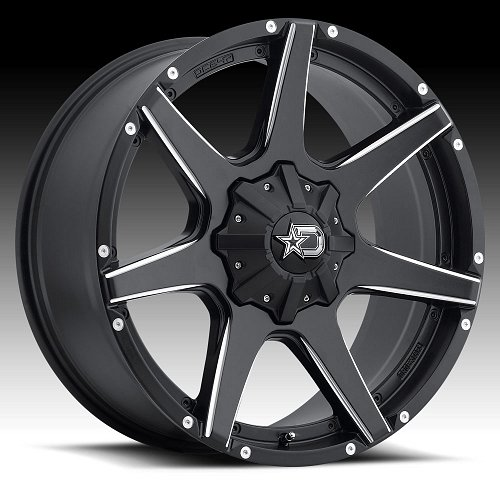 DropStars 647BM Black Milled Custom Wheels Rims 2