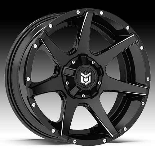 DropStars 647BM Black Milled Custom Wheels Rims 1