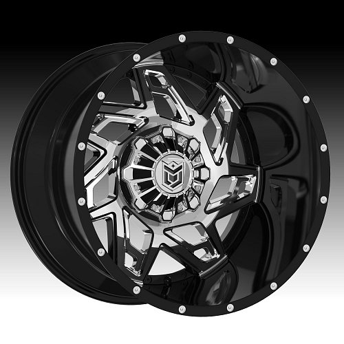 DropStars 652BV Chrome Black Custom Wheels Rims 1