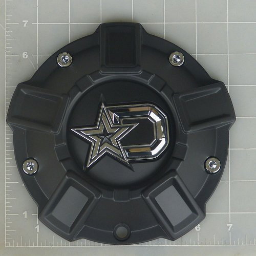 CAP-647BM-DSTAR / DropStars Satin Black Bolt-On Center Cap 1