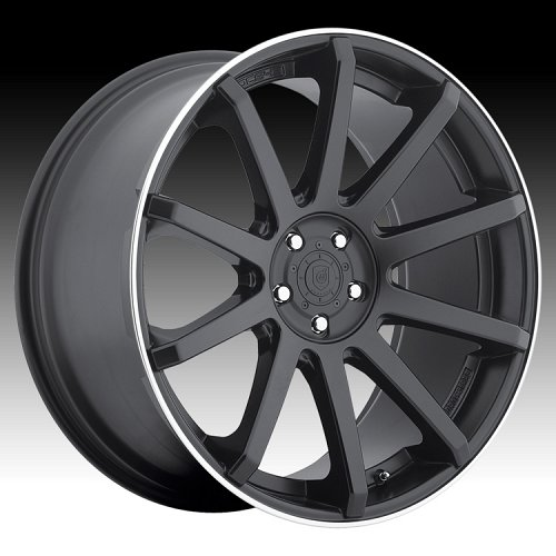 DropStars DS43 643B Satin Black Custom Rims Wheels 1