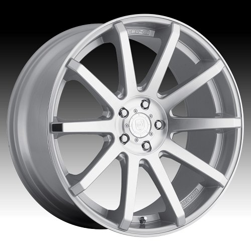 DropStars DS43 643MS Machined Silver Custom Rims Wheels 1
