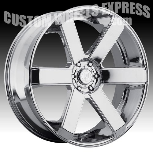 DropStars DS44 644C Chrome Custom Rims Wheels 2