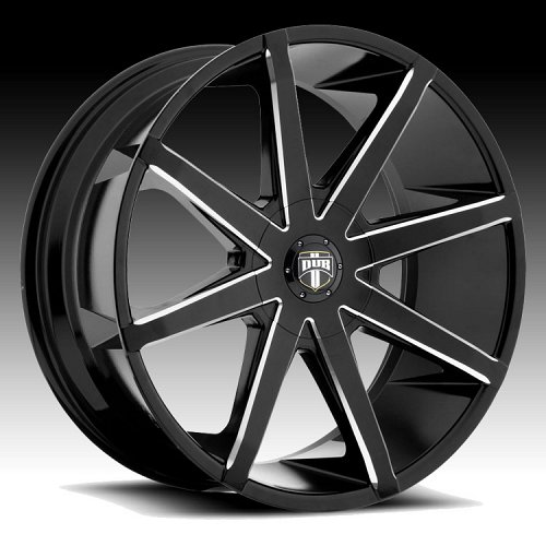 Dub Push S109 Black Milled Custom Wheels Rims 1