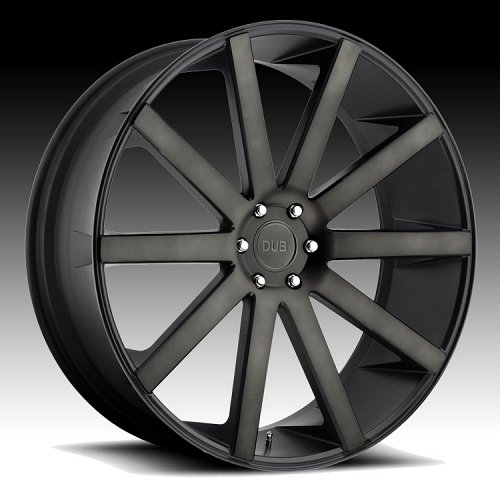 Dub Shot Calla S121 Machined Black DDT Custom Wheels Rims 1